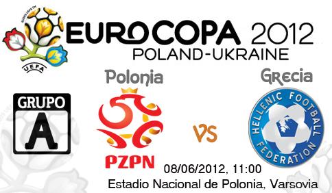 Polonia Grecia vivo online Eurocopa 2012