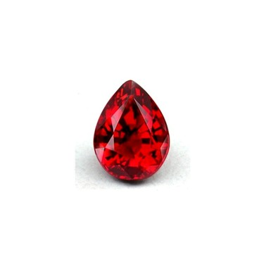 A precious stone in various shades of red