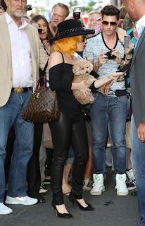Lady Gaga with fans in Vienna Austria