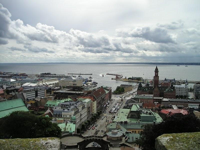 Panaromic Ocean View of Helsingborg, Sweden