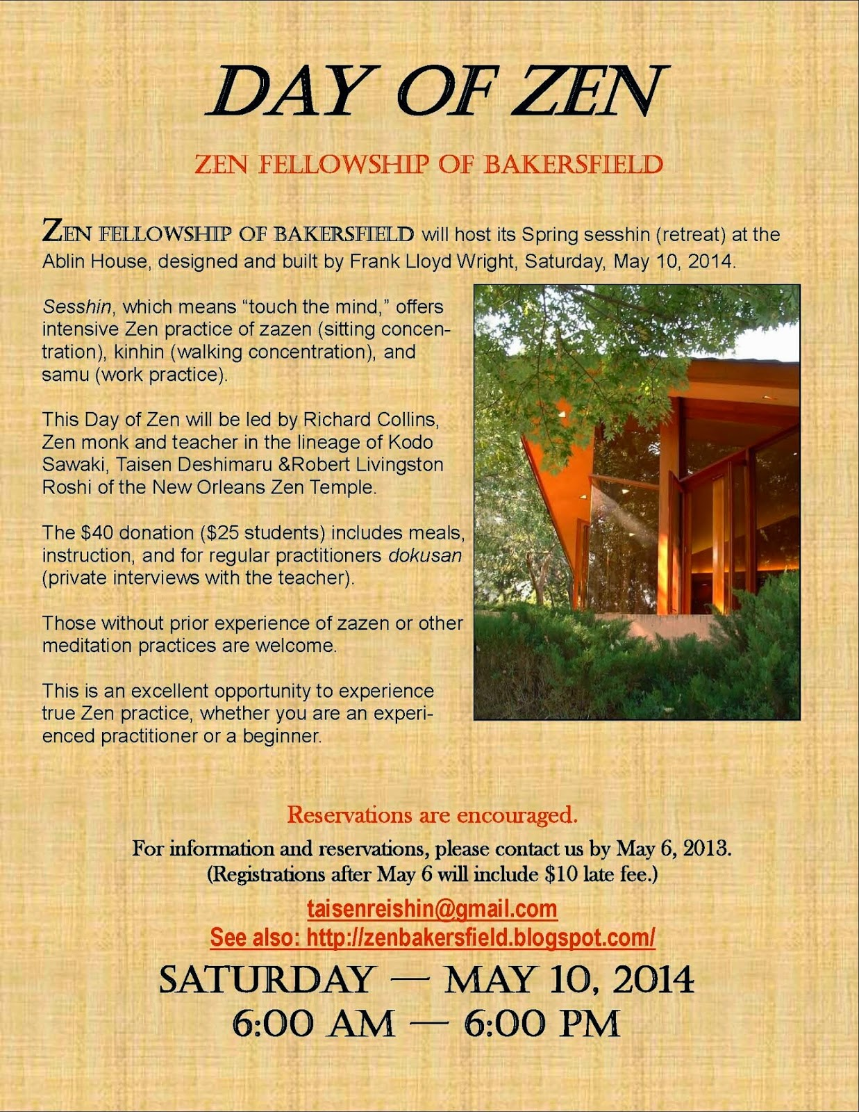 Day of Zen - May 10, 2014