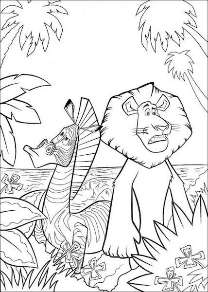 Madagascar Zebra Coloring Pages