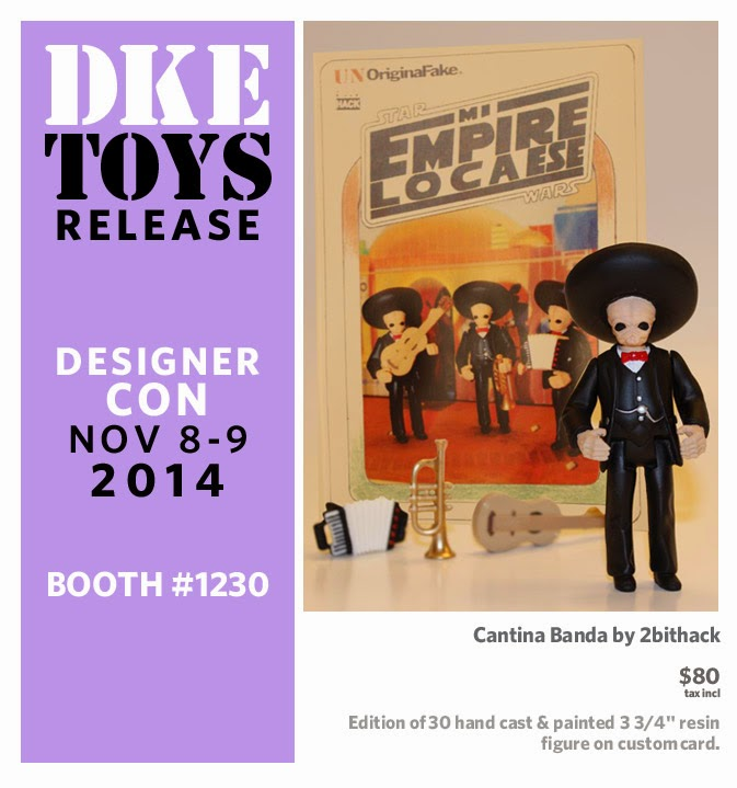 Designer Con 2014 Exclusive Cantina Banda Bootleg Star Wars Resin Figure by 2bithack