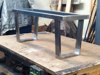 steel, bench