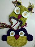 Hat & Bib--Funky Owl