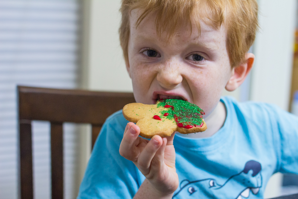 Christmas Cookies with Nestle Toll House Rolled and Ready Cookie Dough
