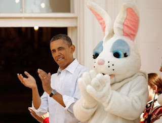 President Obama and the Easter Bunny!