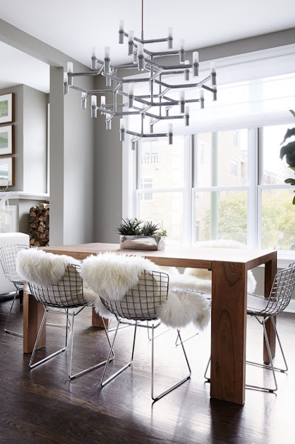 Chic wire metal dining room chairs - modern interiors