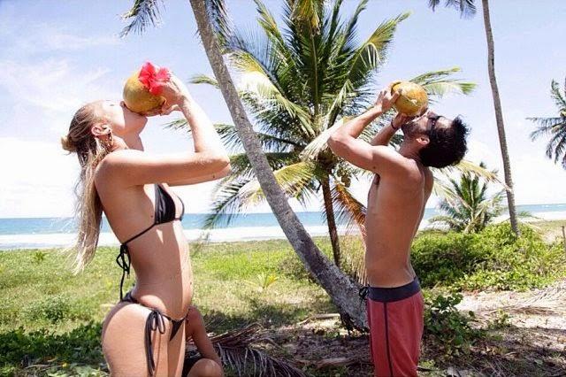 Candice Swanepoel sizzles into a Black Bikini in Fernando de Noronha, Brazil