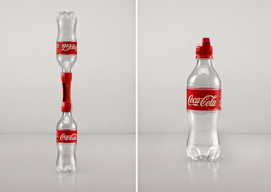 Coca cola invents 16 crazy caps to turn empty bottles into for Useful things from waste bottles