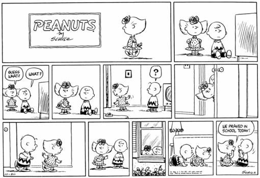 an analysis of each character from the peanuts comic strip in us Can you pick the members of each set of comic strip characters  entertainment quiz / 10 to 1 shooting gallery: comic strips  tags: archie comics, calvin and hobbes, charlie brown, comic character, comic strips, dilbert, far side, newspaper, peanuts characters top quizzes today top quizzes today in entertainment.