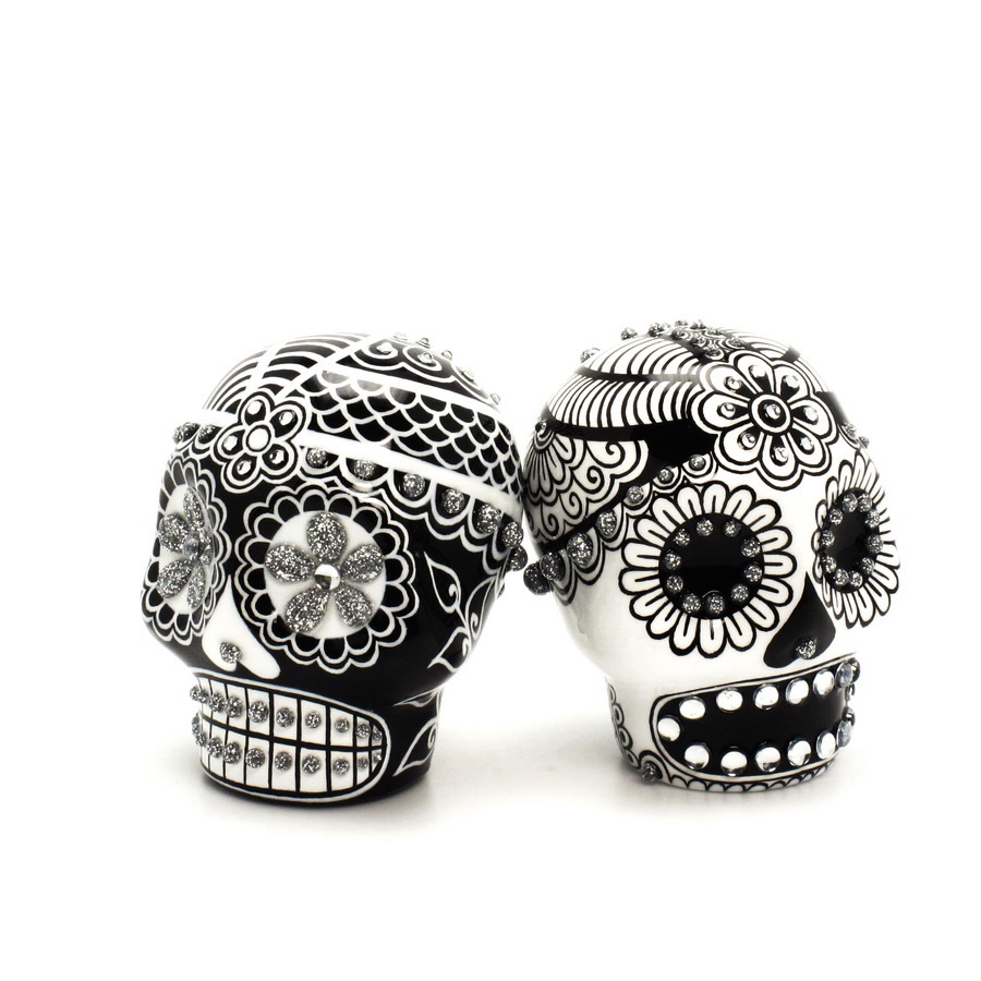 Attractive Sugar Skull Wedding Cake Toppers Component - The Wedding ...