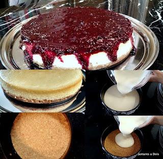 Cheesecake de Frutas Vermelhas - Etapas de Montagem