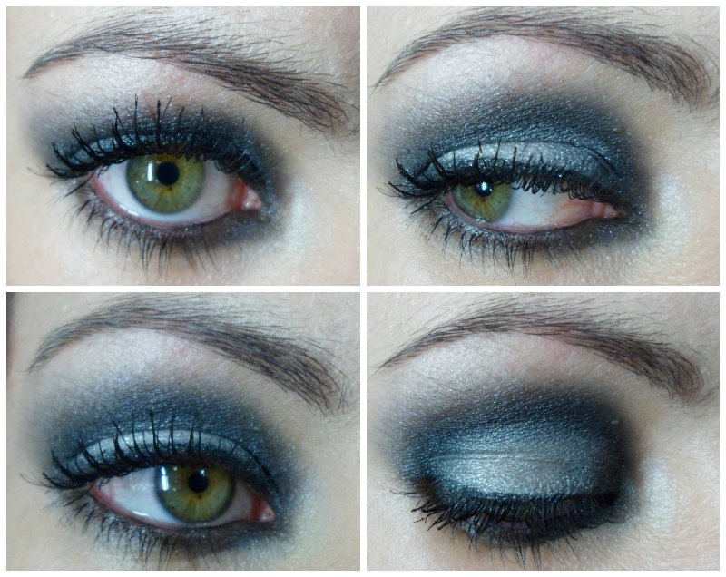 Maquillaje 01- plata y negro