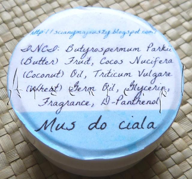 Mus do ciała o zapachu marcepanu by SmykuSmyk - słodka przyjemnostka zapobiegająca powstawaniu rozstępów!