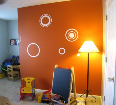 Orange Wall Paint Captivating Of Orange Painted Kitchen Walls Picture