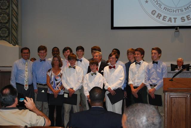 Montgomery Catholic Preparatory School 3A State Champs Meet Mayor Strange 1