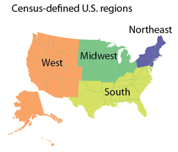 Viable Opposition Existing Home Sales And Americas Uneven - 4 regions of us map