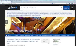 Site de l'hôtel Radisson Blu à Bamako