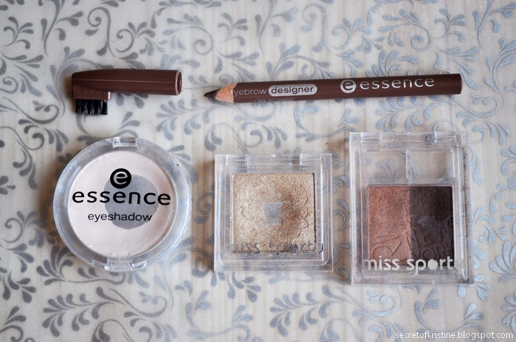 Essence eyebrow, miss sporty eyeshadow