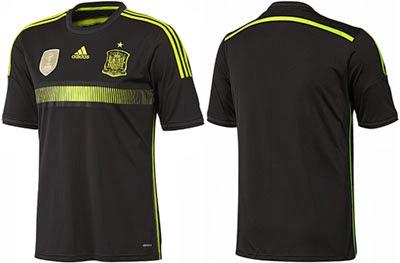comprar camiseta selección española Mundial 2014 segunda equipación negra