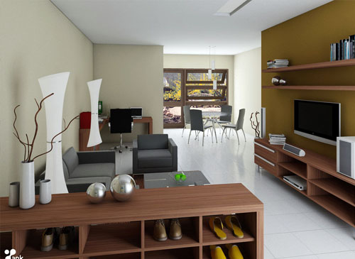 Interior design minimalis for Minimalist house type 36