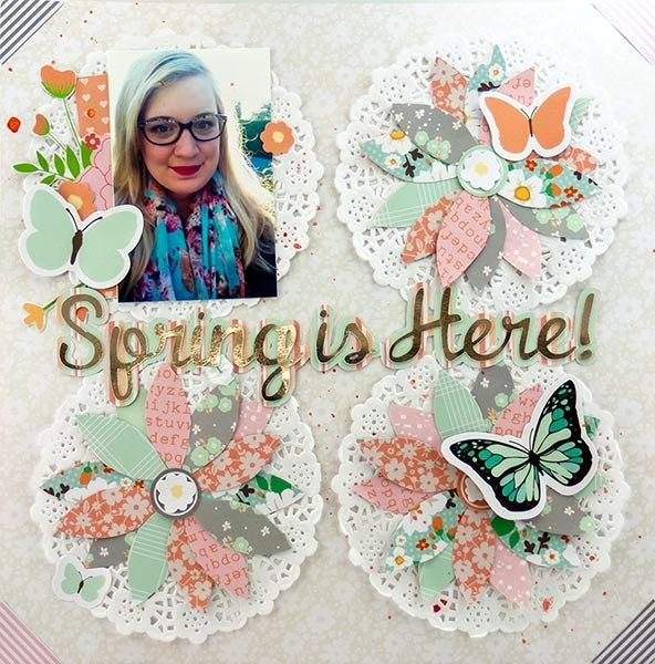 Allie Stewart Chickaniddy Crafts Flowers Layout