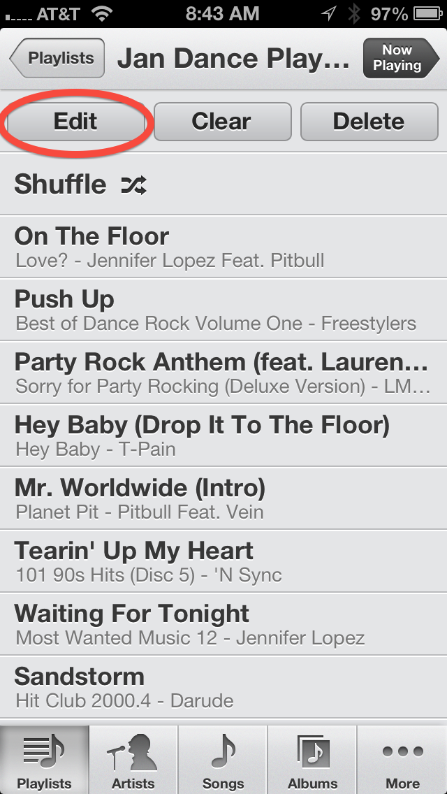 how to delete songs on your iphone playlist