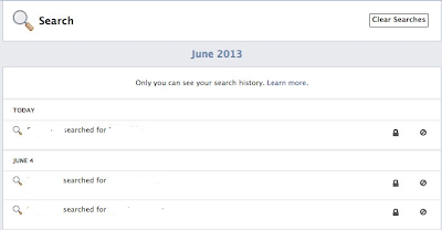 clear your facebook search history - step 4