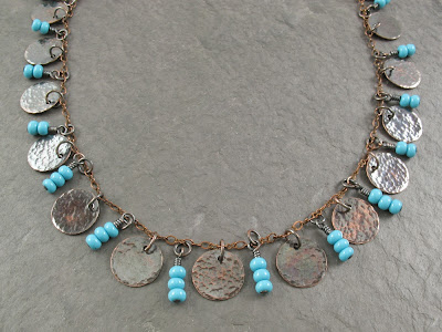 Roma-inspired coin necklace