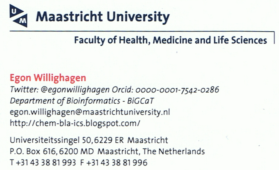 chem-bla-ics: Business card with ORCID and Twitter account