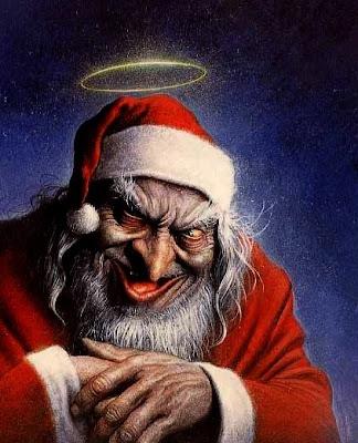 Imagens do Papai Noel Maligno
