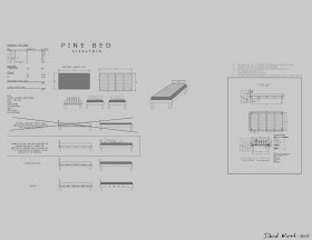 AutoCAD Bed Plans wood twin bed