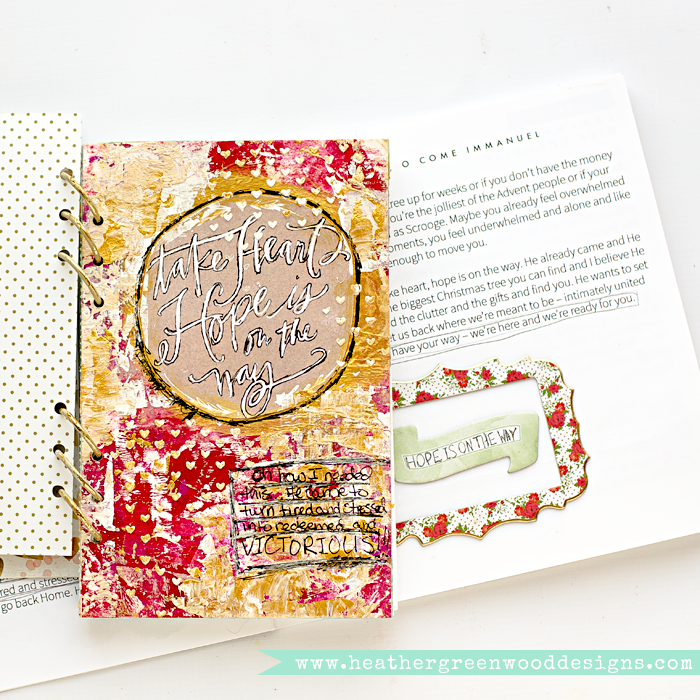 Advent Mixed Media Art Worship Journal | Advent Mini Album | Naptime Diaries Advent Devotionals and Calendar