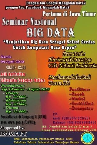 Seminar Nasional BIG DATA (Pertama di Jawa Timur)