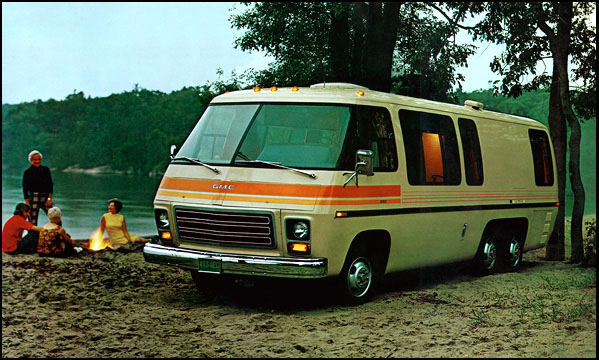 Luxury OLD PARKED CARS 1976 GMC Palm Beach Motorhome