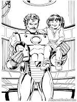 Iron Man Menggendong Anak Kecil Yang Diselamatkannya