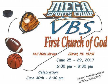 6-25 thru 29 First Church of God VBS