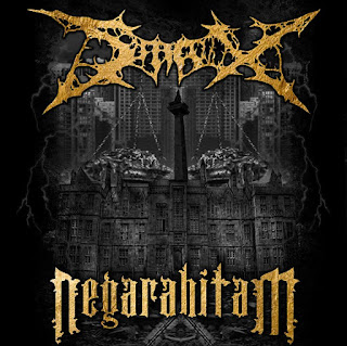 album STAX - Negara Hitam (2015) Band Death Metal CD Cover Artwork