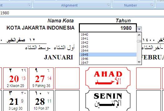 Cara Mengetahui Tanggal Dan Hari Pasaran Tanggal Hijriyah Kalender