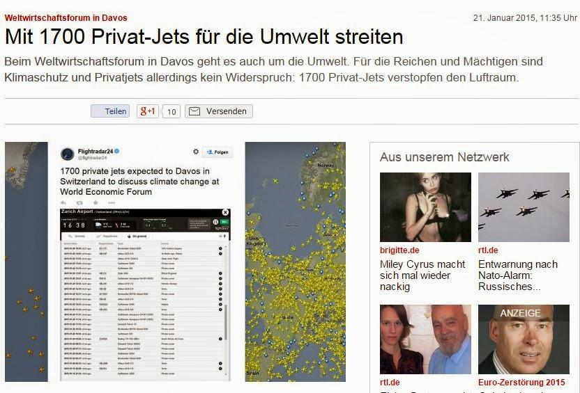 1700 stycken privatjet som frekventerar Davos, måste varit trångt på flygplatserna... Jobbiga dagar för flygledarna..