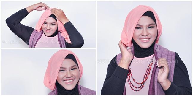 Tips Hijab Modern untuk Pipi Chubby Terbaru 2016 image