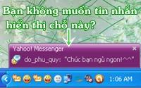 Software tips Ẩn tin nhắn hiện lên góc phải khi Chat Yahoo