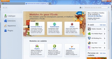 Screenshots Mozilla Firefox 13