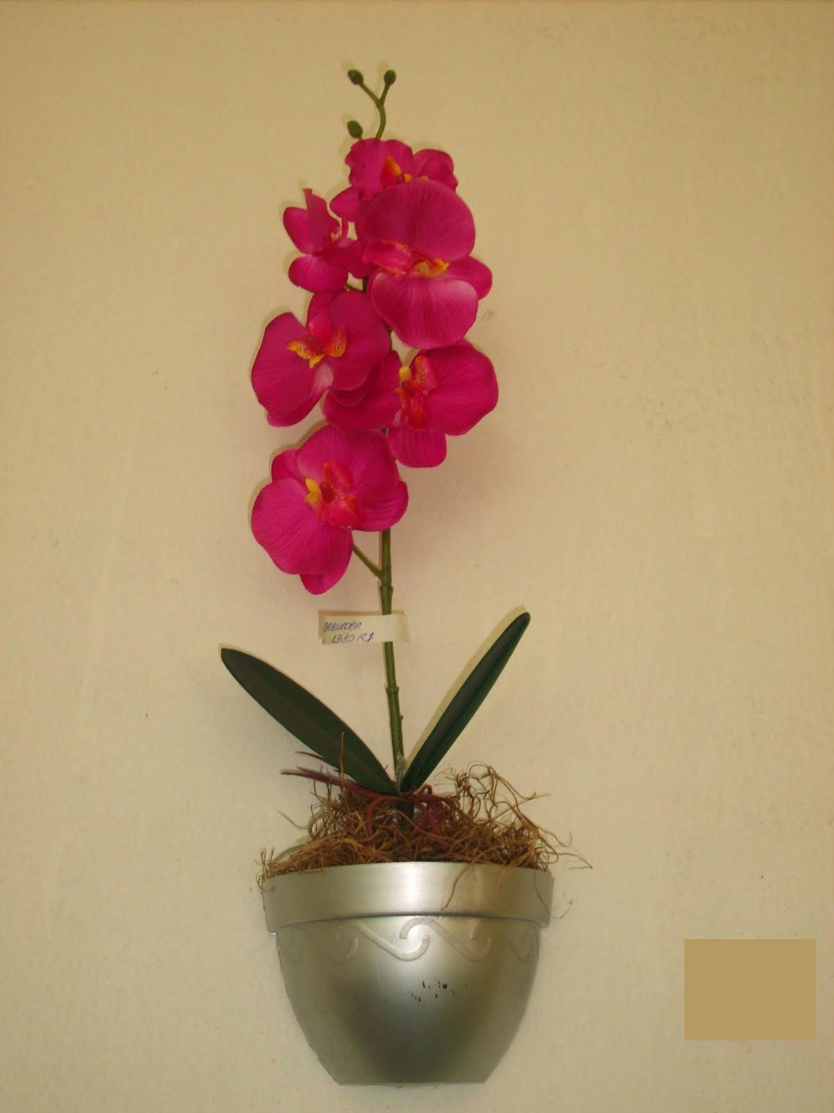 Arranjo artificial orquídea de parede