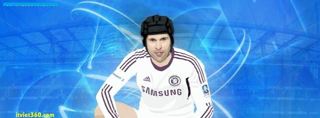 Ảnh bìa Facebook bóng đá - Cover FB Football timeline, petr ceck Thu mon cua chelsea