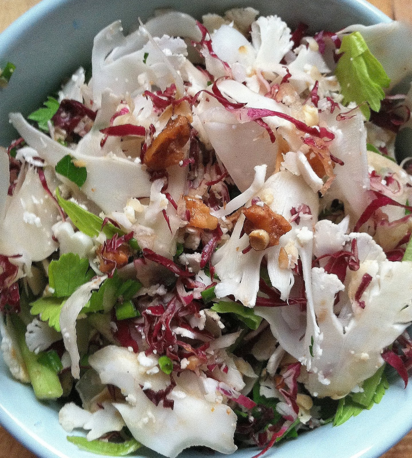 Shaved Cauliflower And Radicchio Salad Recipes — Dishmaps
