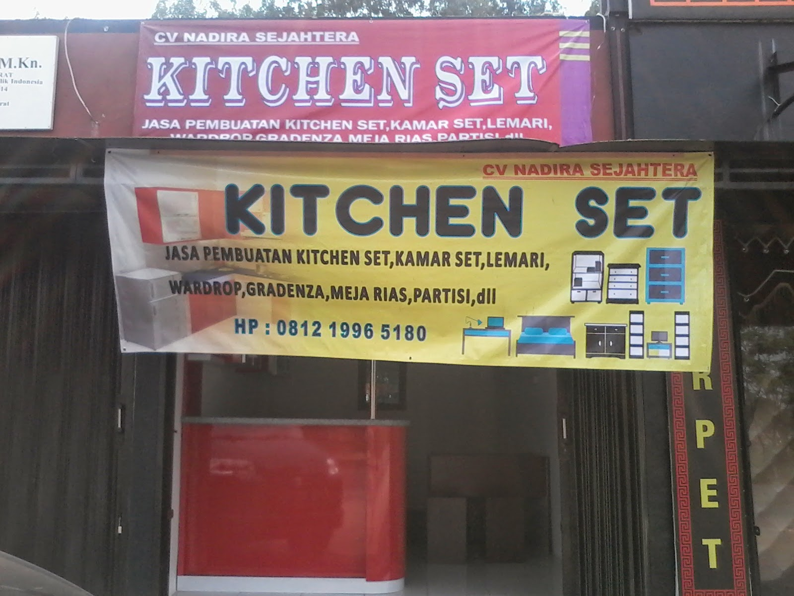 Jasa kitchen set perhitungan biaya kitchen set for Jasa buat kitchen set