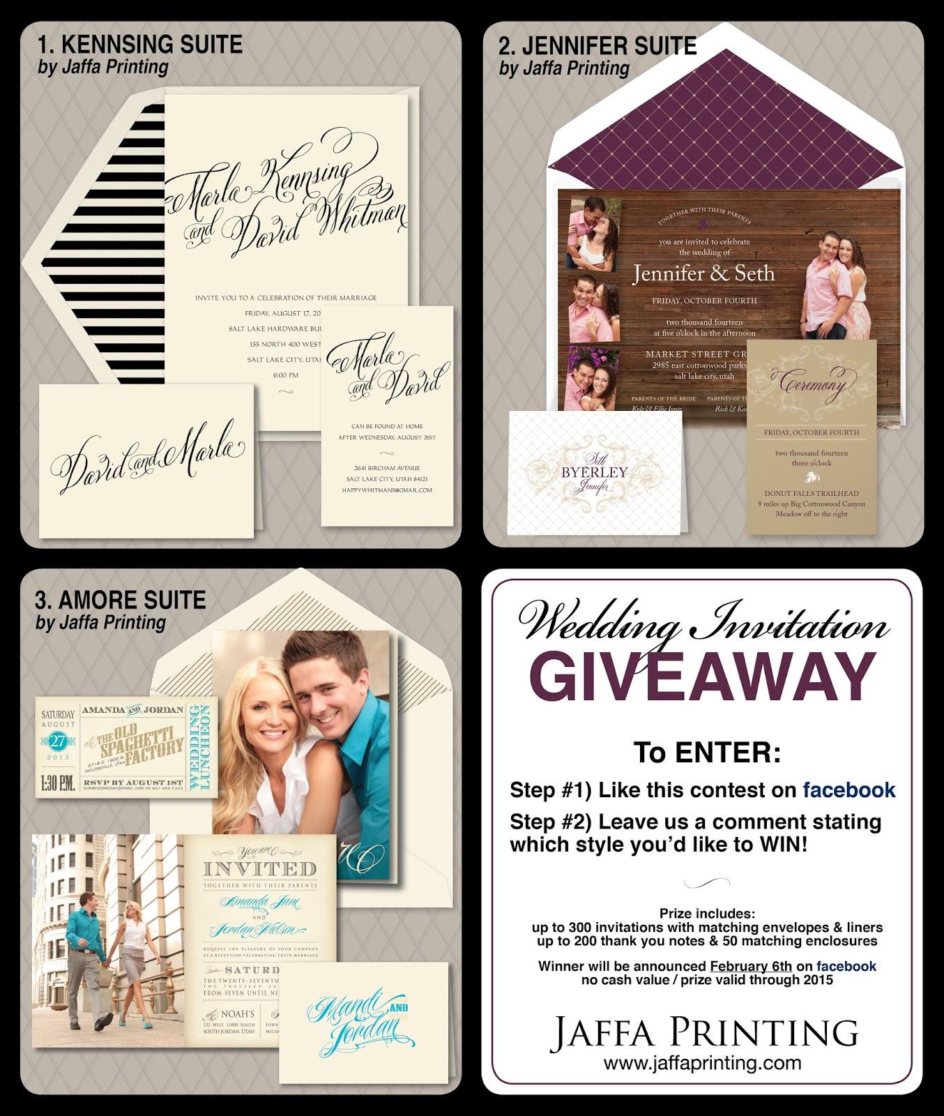 Wedding Invitation Blog: Wedding Invitation Giveaway