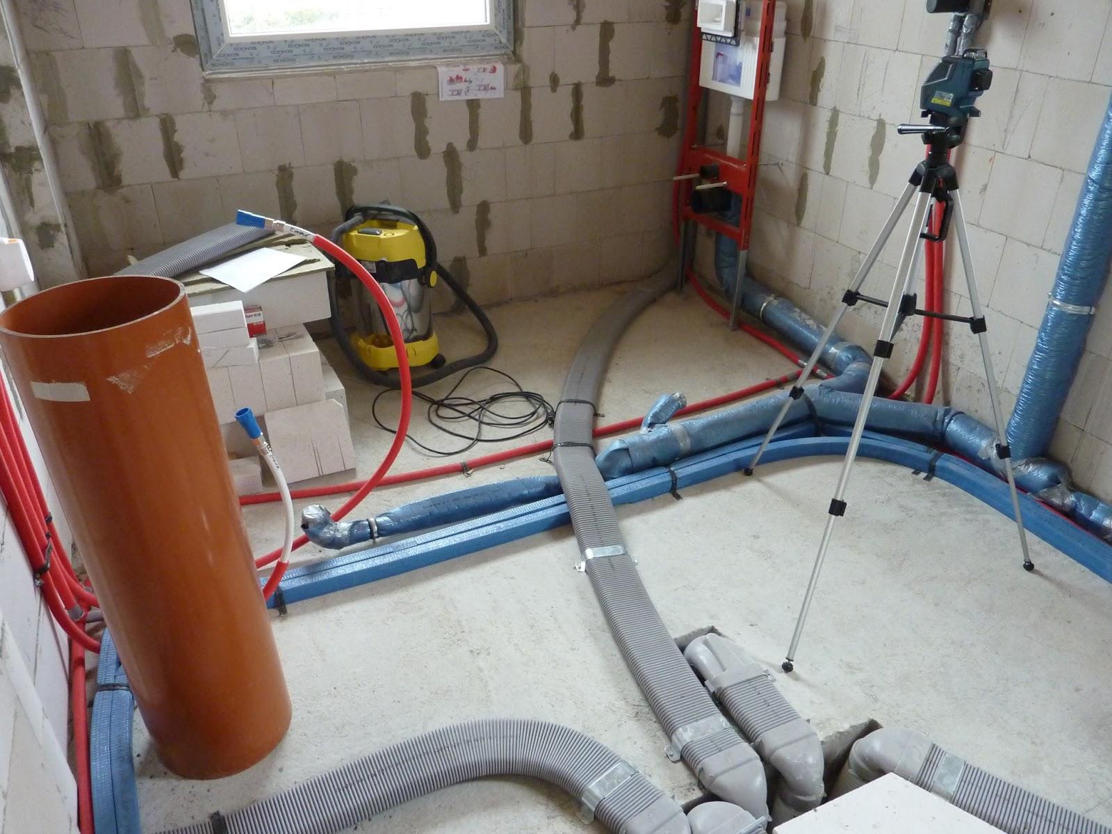 """projekt: """"unser traumhaus"""": sanitär rohinstallation sowie"""